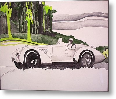 Metal Print featuring the painting 36 Alfa  by Richard Willows