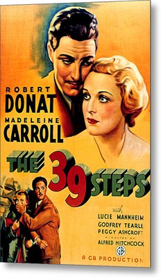 39 Steps, The, Robert Donat, Madeleine Metal Print by Everett