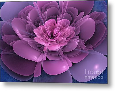 3d Flower Metal Print