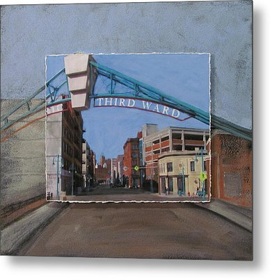 3rd Ward Entry Layered Metal Print by Anita Burgermeister