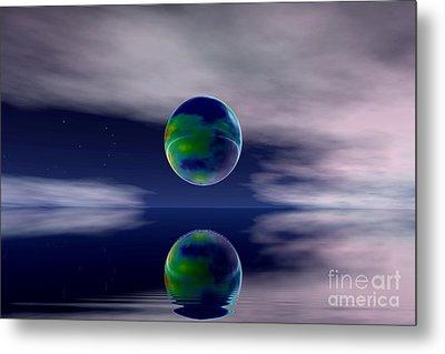 Planet Reflection Metal Print
