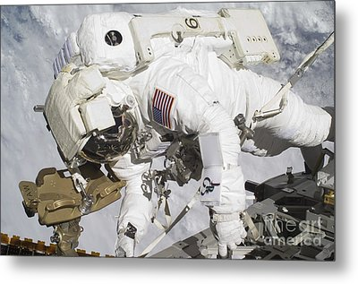 An Astronaut Participates In A Session Metal Print by Stocktrek Images