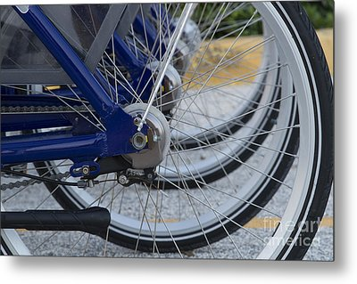 Bicycles Metal Print by Blink Images