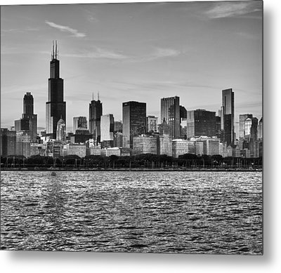 Chicago Skyline Metal Print by Donald Schwartz
