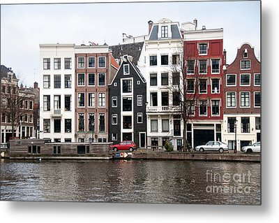 Metal Print featuring the digital art City Scenes From Amsterdam by Carol Ailles