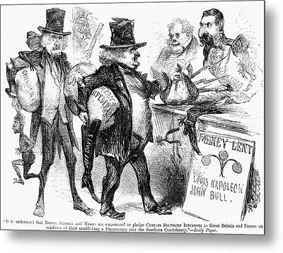 Civil War: Cartoon, 1861 Metal Print by Granger