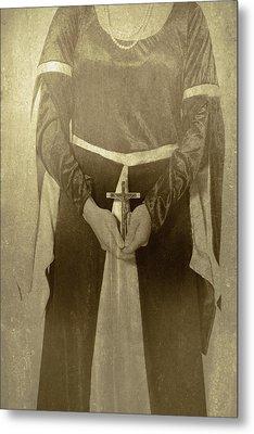 Crucifix Metal Print by Joana Kruse