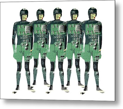 Cybernetics And Robotics Metal Print by Victor De Schwanberg