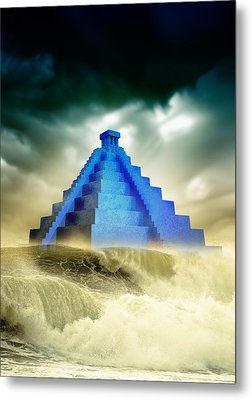 End Of The World In 2012 Conceptual Image Metal Print by Victor Habbick Visions