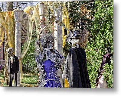 Fall  Halloween On Tillson Street Metal Print by LeeAnn McLaneGoetz McLaneGoetzStudioLLCcom