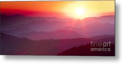 Great Smokie Mountains Sunset Metal Print by Dustin K Ryan