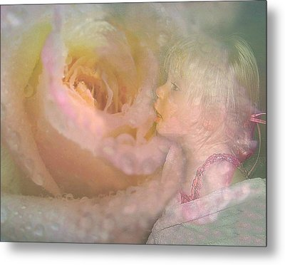 Innocent Beauty Metal Print by Shirley Sirois