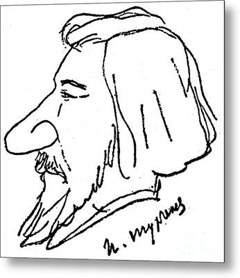 Ivan Turgenev (1818-1883) Metal Print by Granger
