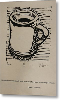Metal Print featuring the drawing Java by William Cauthern