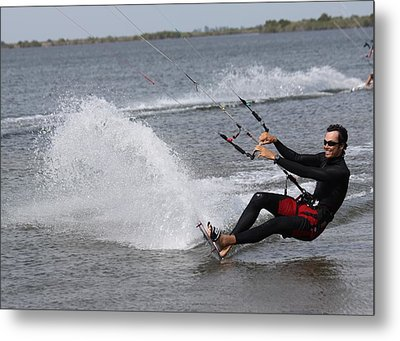 Kite Boarding Metal Print by Jeanne Andrews