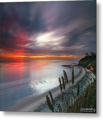Long Exposure Sunset At A North San Metal Print by Larry Marshall