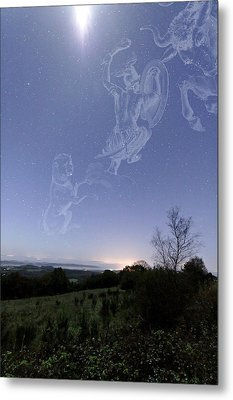 Night Sky Metal Print by Laurent Laveder