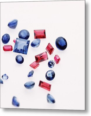 Precious Gemstones Metal Print by Lawrence Lawry