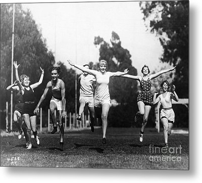 Silent Film Still: Sports Metal Print by Granger