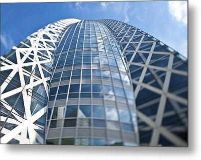 Skyscrapers In Tokyos Shinjuku Metal Print by Eddy Joaquim