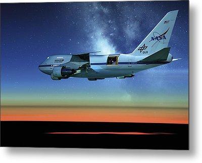 Sofia Airborne Observatory In Flight Metal Print by Detlev Van Ravenswaay