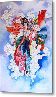 tradition Chinese painting on wall  Metal Print by Phalakon Jaisangat