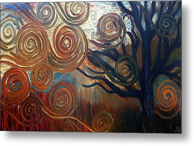 Metal Print featuring the painting Untitled Tree by Monica Furlow