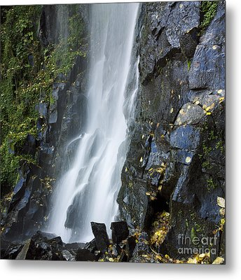 Waterfall Of Vaucoux. Puy De Dome. Auvergne. France Metal Print by Bernard Jaubert