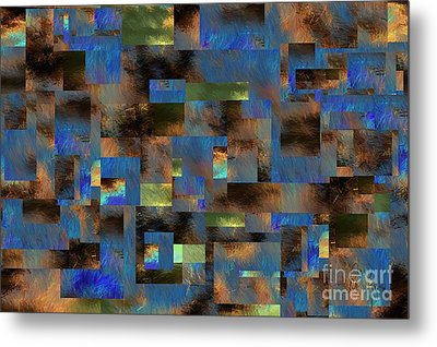Metal Print featuring the digital art 4312 by Leo Symon