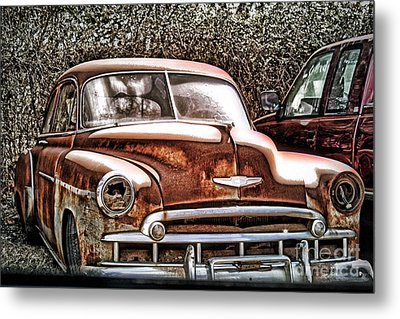 Metal Print featuring the photograph 49 Chevy by Joe Finney