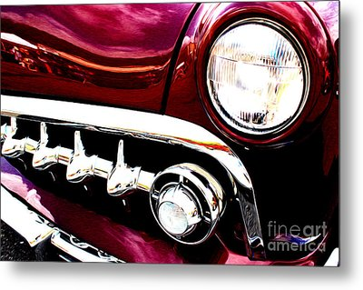 Metal Print featuring the digital art 49 Ford by Tony Cooper