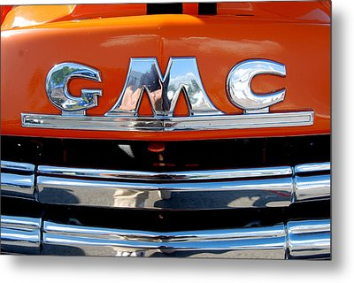 Metal Print featuring the photograph '49 G M C by John Schneider