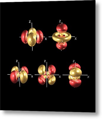 4d Electron Orbitals Metal Print by Dr Mark J. Winter