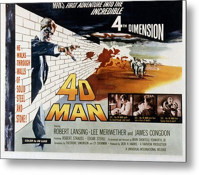 4d Man, Robert Lansing, 1959 Metal Print by Everett