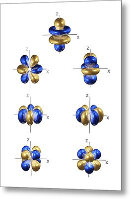 4f Electron Orbitals, General Set Metal Print by Dr Mark J. Winter