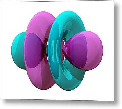 4fz3 Electron Orbital Metal Print by Laguna Design