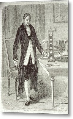 Alessandro Volta, Italian Physicist Metal Print by Science Source