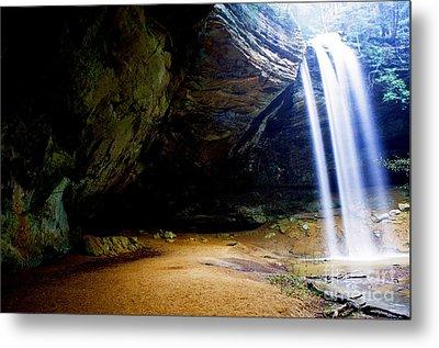 Ash Cave Waterfall Metal Print