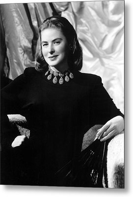 Ingrid Bergman, Portrait Metal Print by Everett