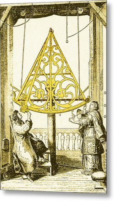 Johannes Hevelius, Polish Astronomer Metal Print by Science Source