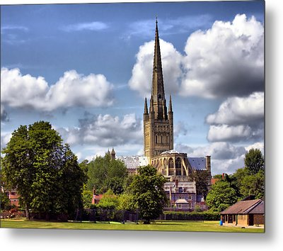 Norwich Cathedral Norfolk England Metal Print by Darren Burroughs