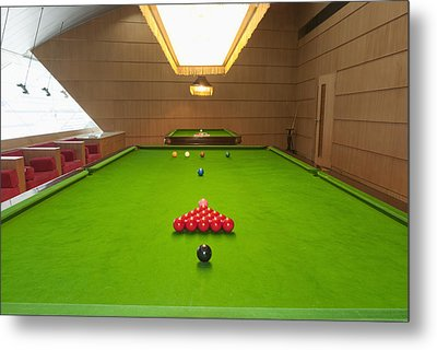 Snooker Room Metal Print by Guang Ho Zhu