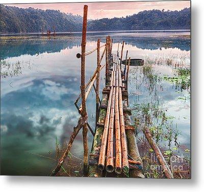 Tamblingan Lake Metal Print by MotHaiBaPhoto Prints