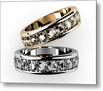 The Beauty Wedding Ring  Metal Print by Rattanapon Muanpimthong
