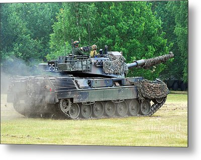 The Leopard 1a5 Main Battle Tank Metal Print by Luc De Jaeger