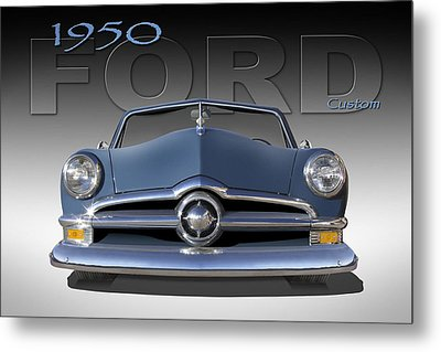 50 Ford Custom Convertible Metal Print