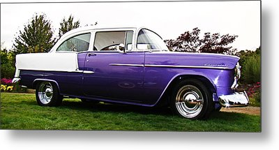 Metal Print featuring the photograph 55 Chevy by Nick Kloepping