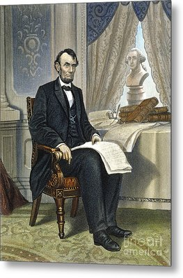 Abraham Lincoln Metal Print by Granger