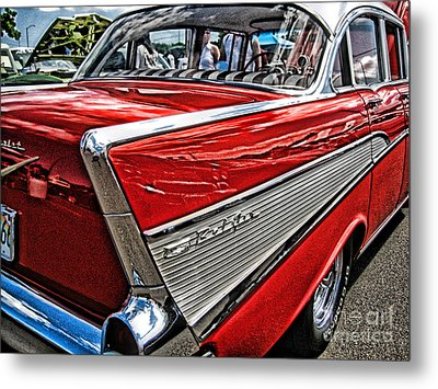 Metal Print featuring the photograph 57 Chevy by Joe Finney