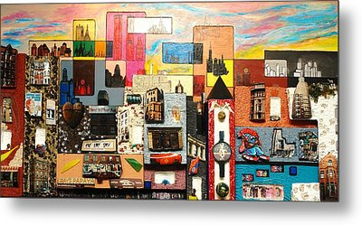 57th Street Kaleidescope Metal Print